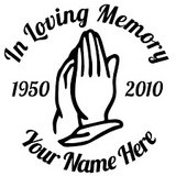 in loving memory vinyl decal custom decals in Camp Lejeune, North Carolina
