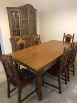 Vintage dining set and China Cabinet in Fort Carson, Colorado