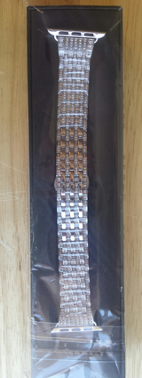Apple Watch band 42mm silver stainless steel with crystals in Fort Campbell, Kentucky