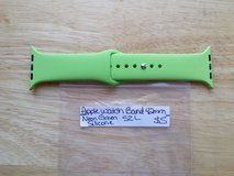 Apple Watch band 42mm neon green silicone  sz L in Fort Campbell, Kentucky