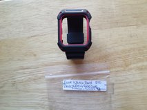 Apple Watch band 42mm black and red with frame athletic silicone in Fort Campbell, Kentucky
