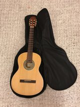 Classical guitar with case and chromatic tuner in Stuttgart, GE