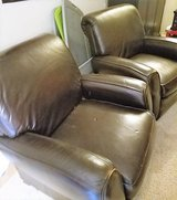 Brown Leather Recliner Chair Living Room Play Man Cave Movie Theater Club in Kingwood, Texas