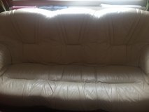 Italian leather sofa 3+1+1NEED IT GONE in Lakenheath, UK