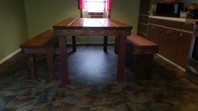 Table and 2 benches in Lawton, Oklahoma