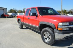 2000 Red Chevy Truck  4 X 4 Extended Cab   4500 in Camp Lejeune, North Carolina