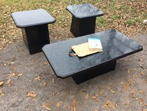 coffee table with end tables black in Lawton, Oklahoma