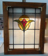 Early 1900's Leaded Glass Window in The Woodlands, Texas
