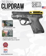 Clipdraw Belt Clip for Smith & Wesson M&P Shield 9mm & .40 IWB Black Right or Left Mount in Kankakee, Illinois