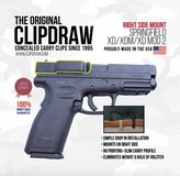 Clipdraw Belt Clip Springfield XD/XDM/XD MOD 2 9/40/45 IWB Black Right Side in Kankakee, Illinois