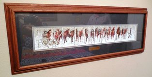 Framed and Matted Bev Doolitte 'Two Indian Horses' Print in Tomball, Texas