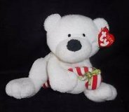 Retired Ty Pluffies Candy Cane 2005 Bear White # 32061 in Okinawa, Japan