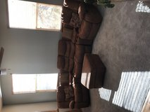 Sectional with ottoman, 2 recliners suede - $500 in Fort Carson, Colorado