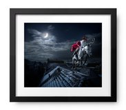 **SANTA CLAUS (SINTERKLAAS) ON ROOFTOP BRAND NEW FRAMED** in Alamogordo, New Mexico