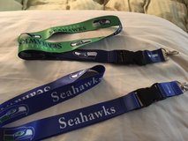 SEATTLE SEAHAWKS LANYARDS - 2 Designs to choose from (New or Old School Logos) ** NEW ** in Fort Lewis, Washington