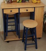 Serving Trolley, Trolley Table, Serving Cart with two Stools in Ansbach, Germany