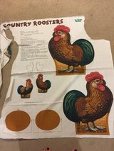 Country rooster fabric in Okinawa, Japan