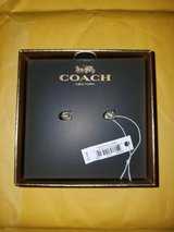 coach signature stud earrings in Fort Benning, Georgia