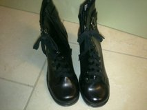 New Over the Ankle Black Boots Size 8 in Ramstein, Germany