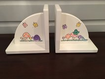 Deocrative Wooden Bookends for Girl's Room in Chicago, Illinois