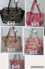5 Authentic Coach Purses one owner in Houston, Texas