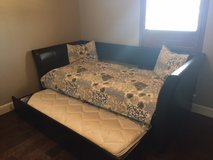 Leather Trundle Daybed Including Two Mattresses in Tyndall AFB, Florida