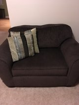 chocolate 2 person couch/loveseat in Sugar Grove, Illinois