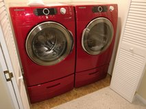 Samsung large capacity washer, dryer, and pedestals in Fort Carson, Colorado