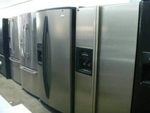 Side by side refrigerator with water and ice dispenser in Camp Pendleton, California