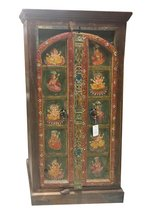 Antique Armoire Ganesha Hand Painted Bohemian Cabinet in Conroe, Texas