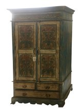 Antique Cabinet Chest Rustic Furniture Armoire with Drawers in The Woodlands, Texas