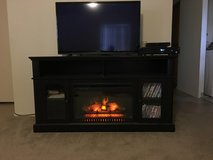 Electric fireplace tv stand in Fort Irwin, California