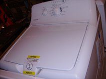 Brand New washer and dryer set Hot Point white in Fort Campbell, Kentucky