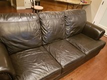Leather couch set  3 piece in Fort Rucker, Alabama