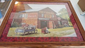 Framed Antique Barn With Coca Cola Sign Picture in Conroe, Texas