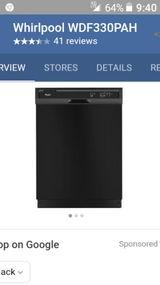 Whirlpool dishwasher brand new never used in Lackland AFB, Texas