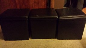 3 Black Leather Storage Boxes in Brookfield, Wisconsin