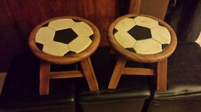 Wooden Soccer Stools 2 in Brookfield, Wisconsin