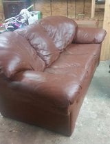 Leather couch in Liberty, Texas