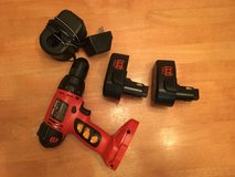Black & Decker 14.4 volt cordless drill + 2 battery packs and charger in St. Charles, Illinois