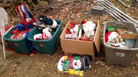 Christmas stuff  4 boxes in Fort Riley, Kansas