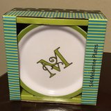 "Set of 4 Melamine ""M"" Plates in The Woodlands, Texas"
