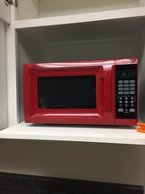 Red microwave in Macon, Georgia