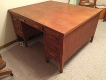 Vintage Oak Partners Desk with two (2) chairs in Fort Leonard Wood, Missouri