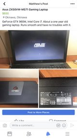 ZX50VW-MS71 Gaming Laptop in Okinawa, Japan