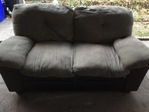 Grey and black loveseat in Fort Riley, Kansas