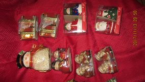 Holiday cookie jar, salt/pepper shakers, and napkin holders in Lawton, Oklahoma