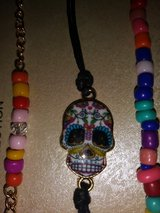 Sugar Skull trio bracelets in The Woodlands, Texas
