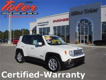2016 Jeep Renegade Limited-Certified-Warranty-(Stk#14612a) in Camp Lejeune, North Carolina