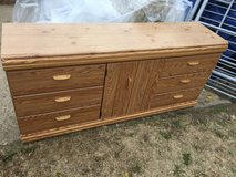 "6 drawer 2 shelf dresser 65x17"" 30"" tall in Fort Riley, Kansas"